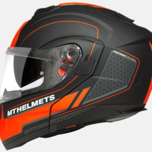 CAPACETE MT ATOM RACELINE EVO MATT ORANGE