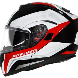 CAPACETE MT ATOM TARMAC BLACK RED