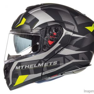 CAPACETE MT ATOM SV DIVERGENCE MATT GREY-YELLOW