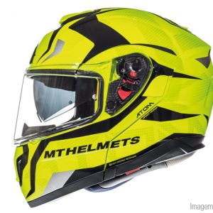 CAPACETE MT ATOM SV DIVERGENCE YELLOW FLUOR