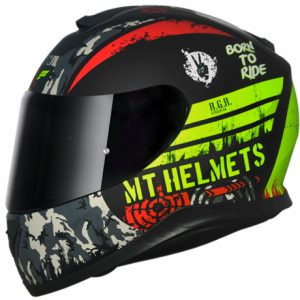 CAPACETE MT THUNDER 3 SNIPER MATT BLACK YELLOW