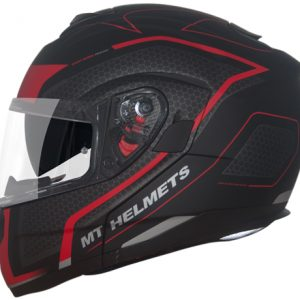 CAPACETE MT ATOM SX2 MATT BLACK RED